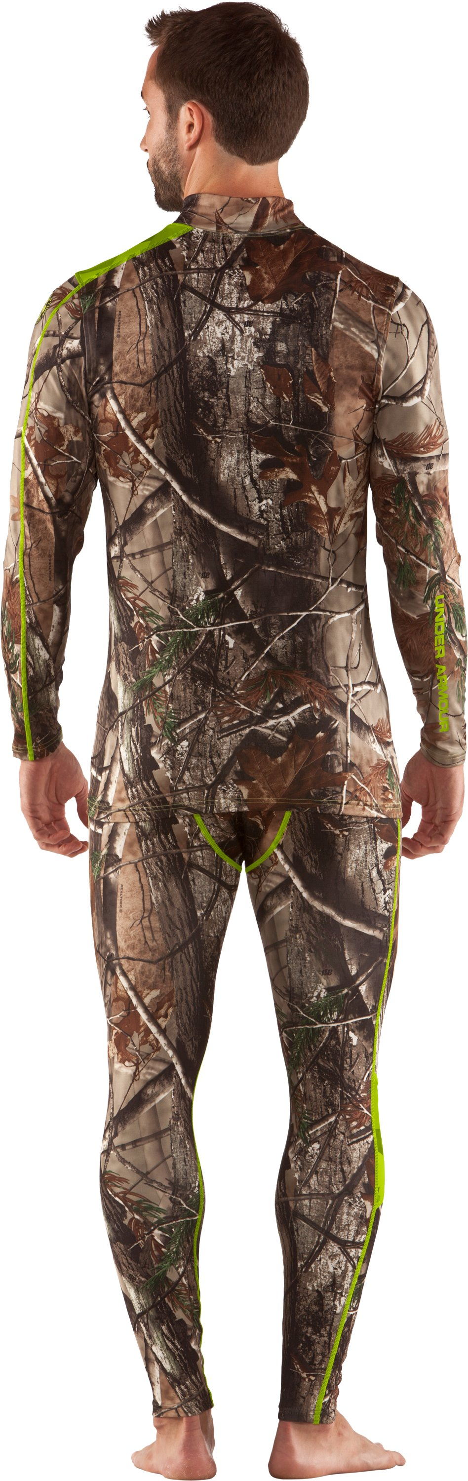 Men's ColdGear® Evo Scent Control Mock, Realtree AP, Back