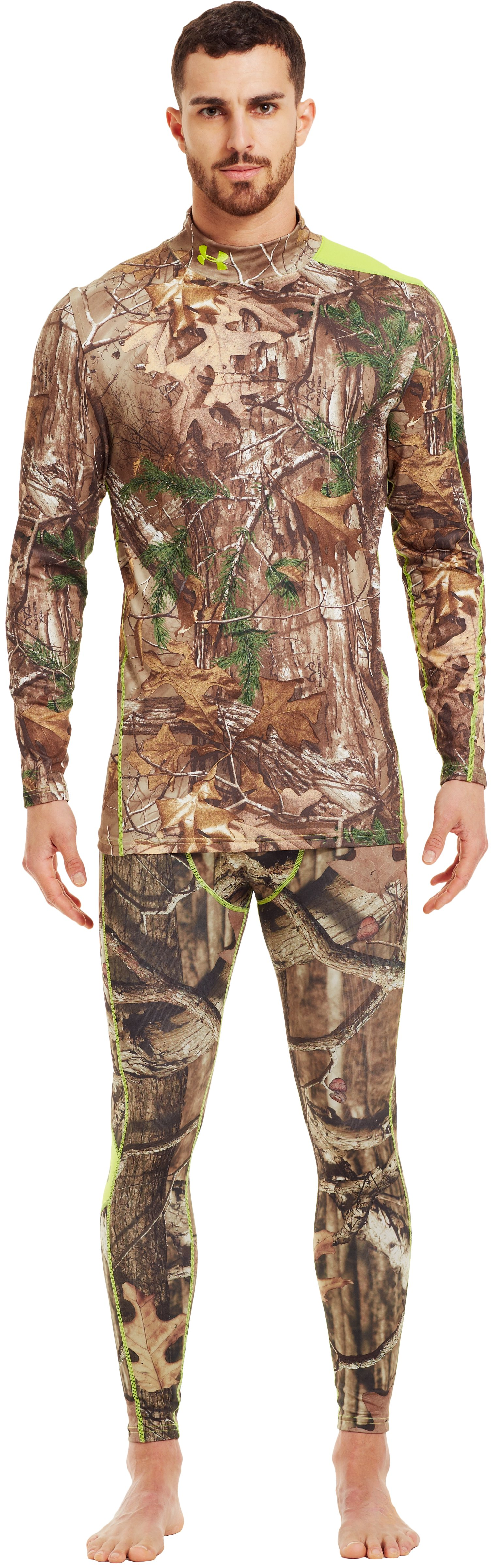 Men's ColdGear® Evo Scent Control Mock, REALTREE AP-XTRA, zoomed image