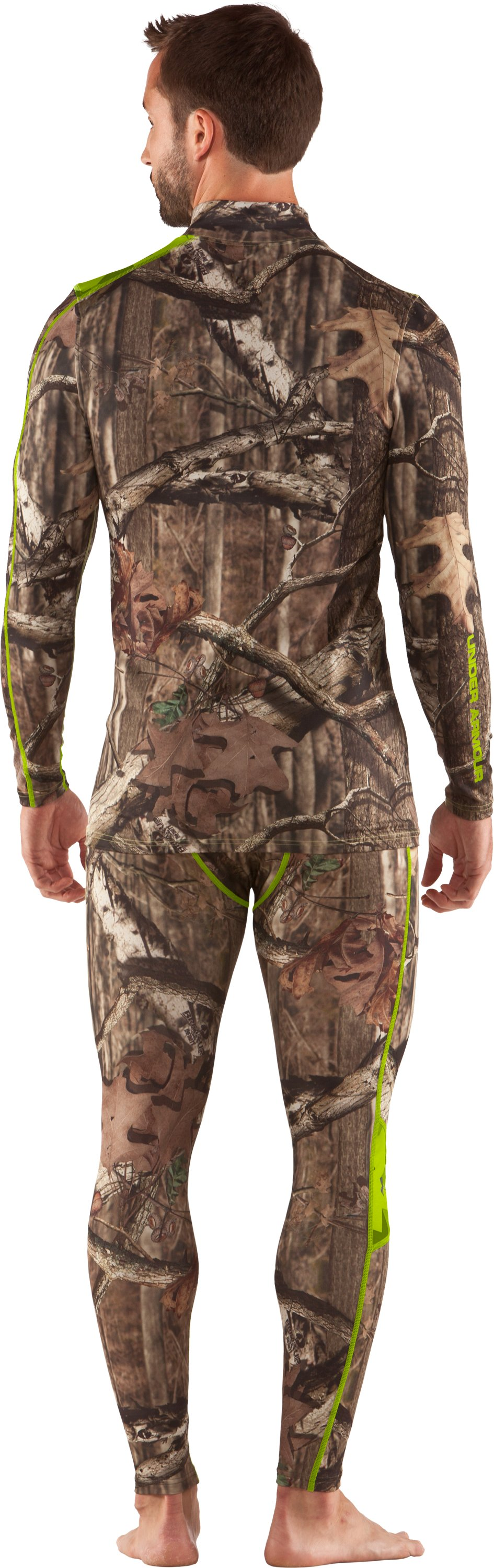 Men's ColdGear® Evo Scent Control Leggings, Mossy Oak Break-Up Infinity, Back