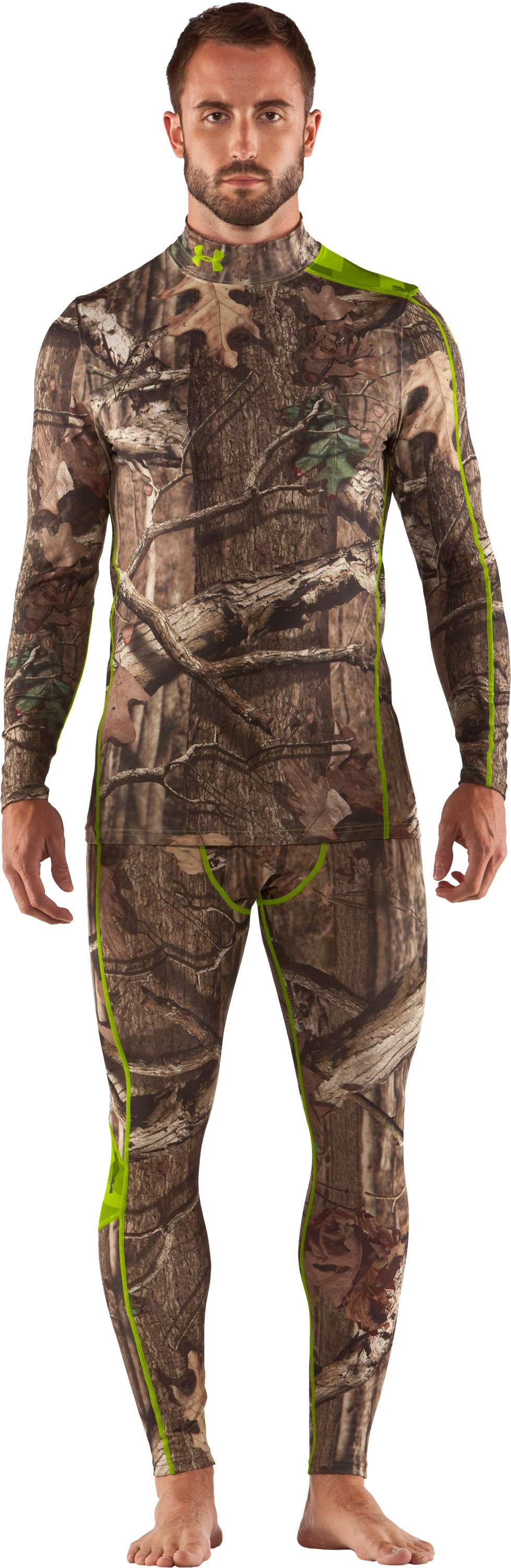Men's ColdGear® Evo Scent Control Leggings, Mossy Oak Break-Up Infinity, Front