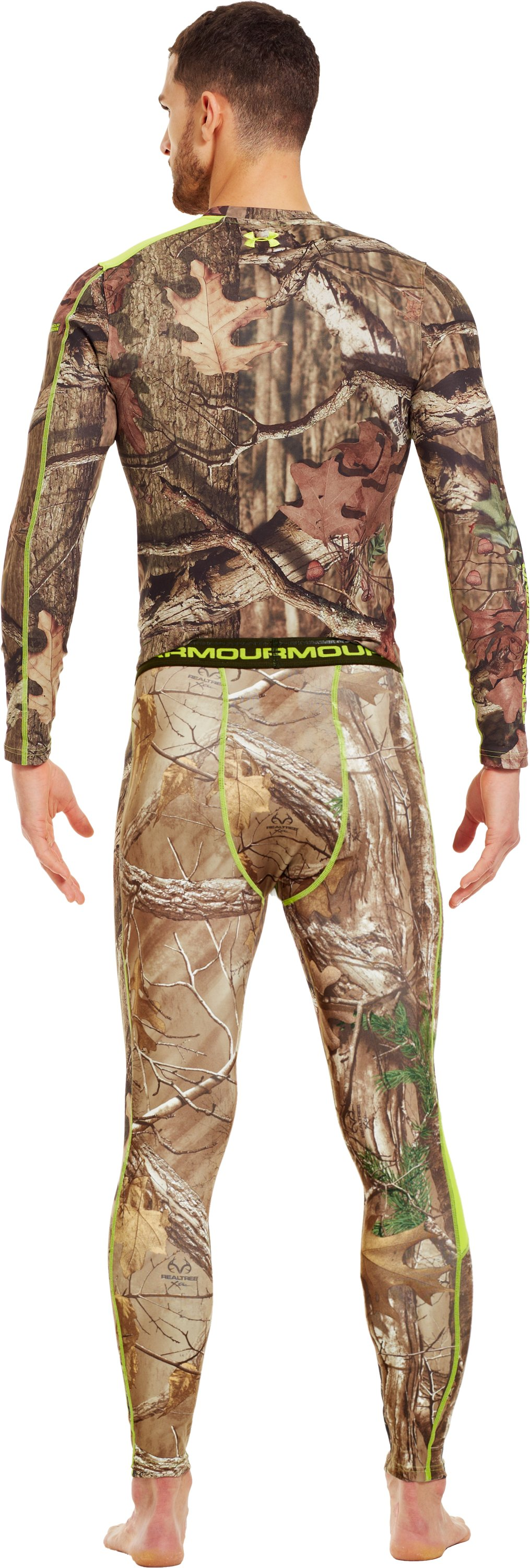 Men's ColdGear® Evo Scent Control Leggings, REALTREE AP-XTRA, Back