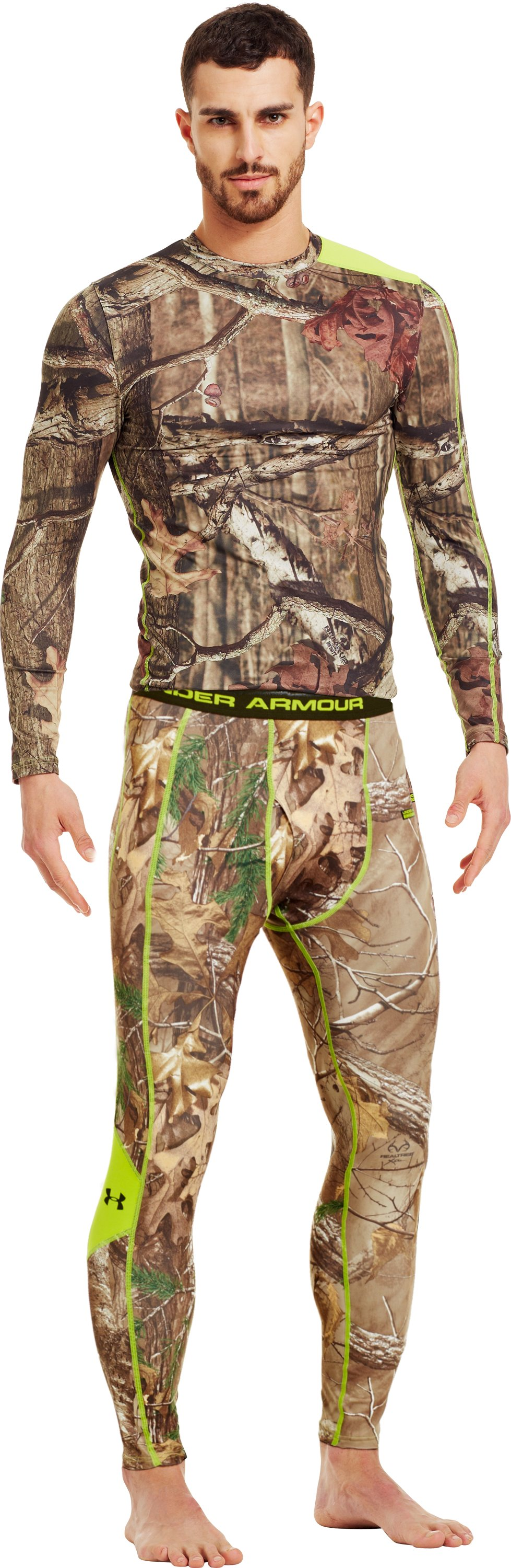Men's ColdGear® Evo Scent Control Leggings, REALTREE AP-XTRA, Front