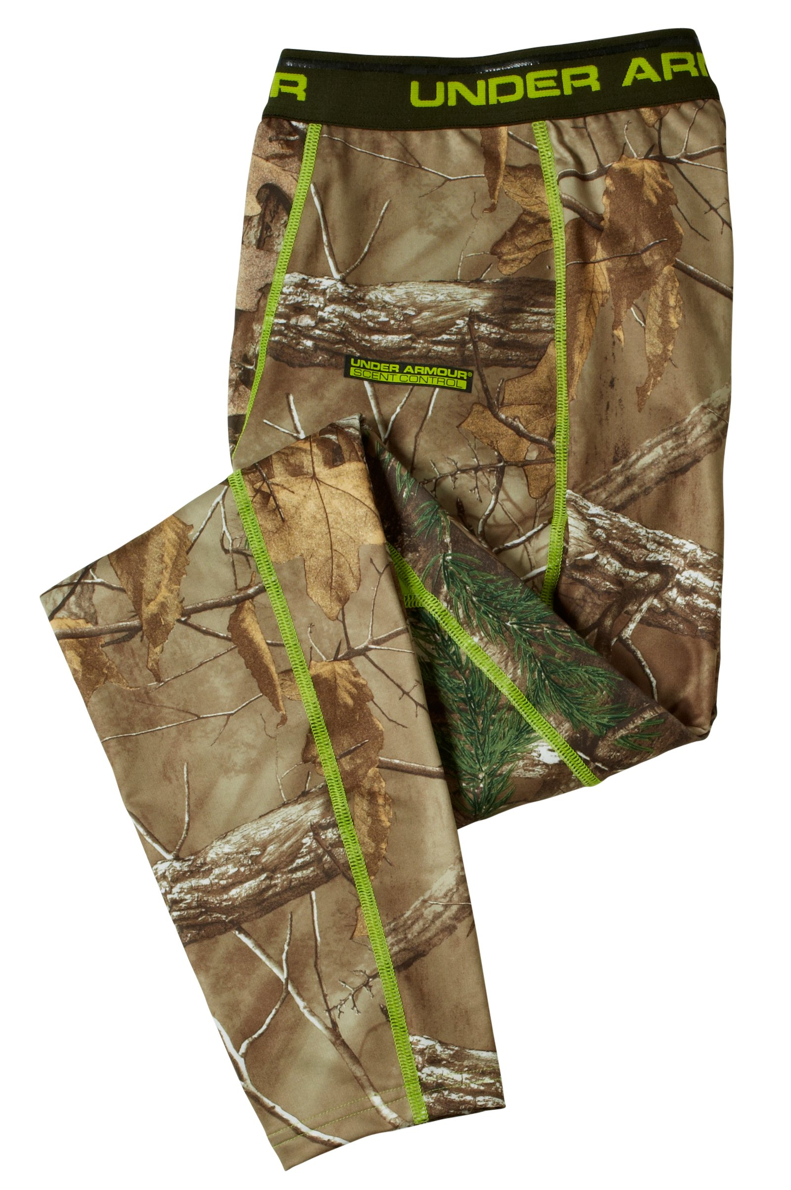 Men's ColdGear® Evo Scent Control Leggings, REALTREE AP-XTRA, Laydown