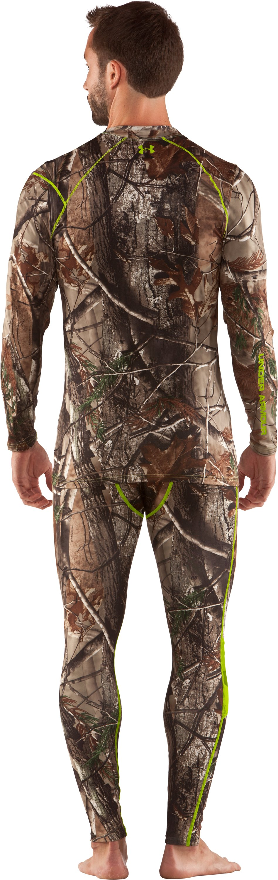 Men's UA Scent Control HeatGear® Long Sleeve, Realtree AP, Back
