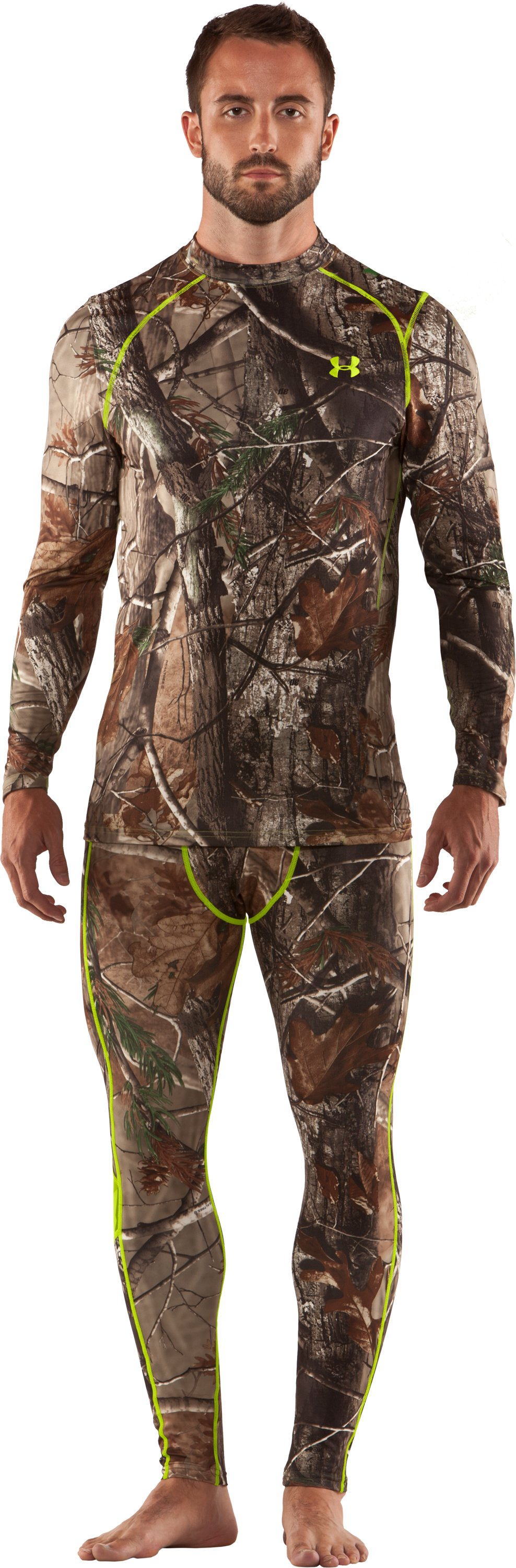 Men's UA Scent Control HeatGear® Long Sleeve, Realtree AP, Front