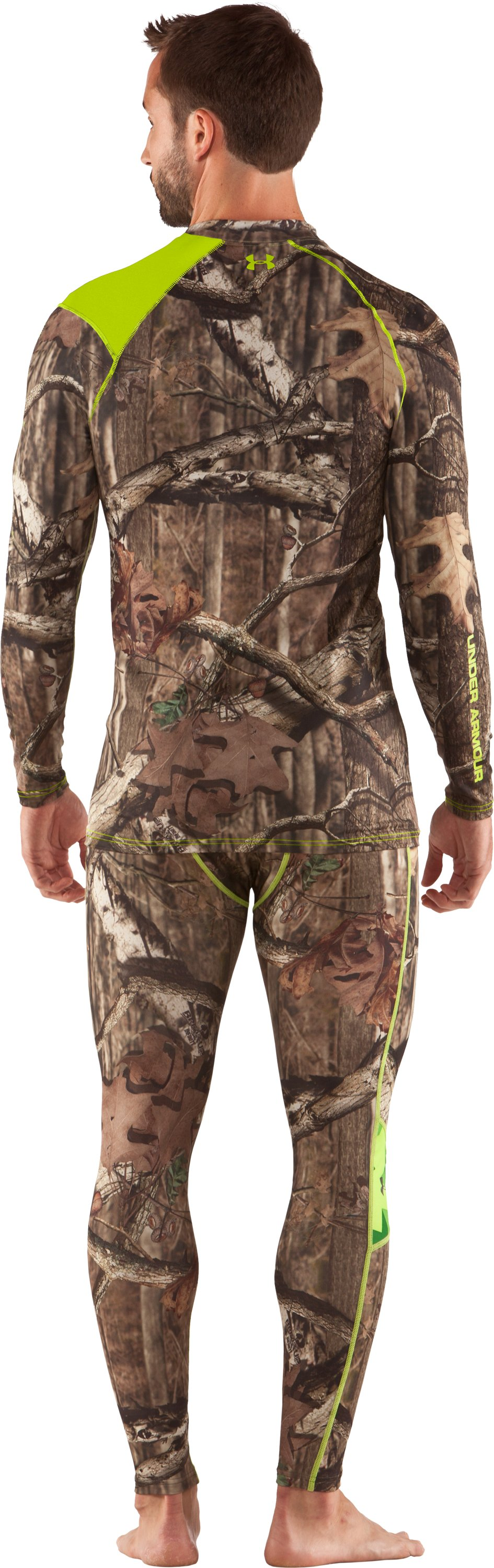 Men's UA Scent Control HeatGear® Long Sleeve, Mossy Oak Break-Up Infinity, Back
