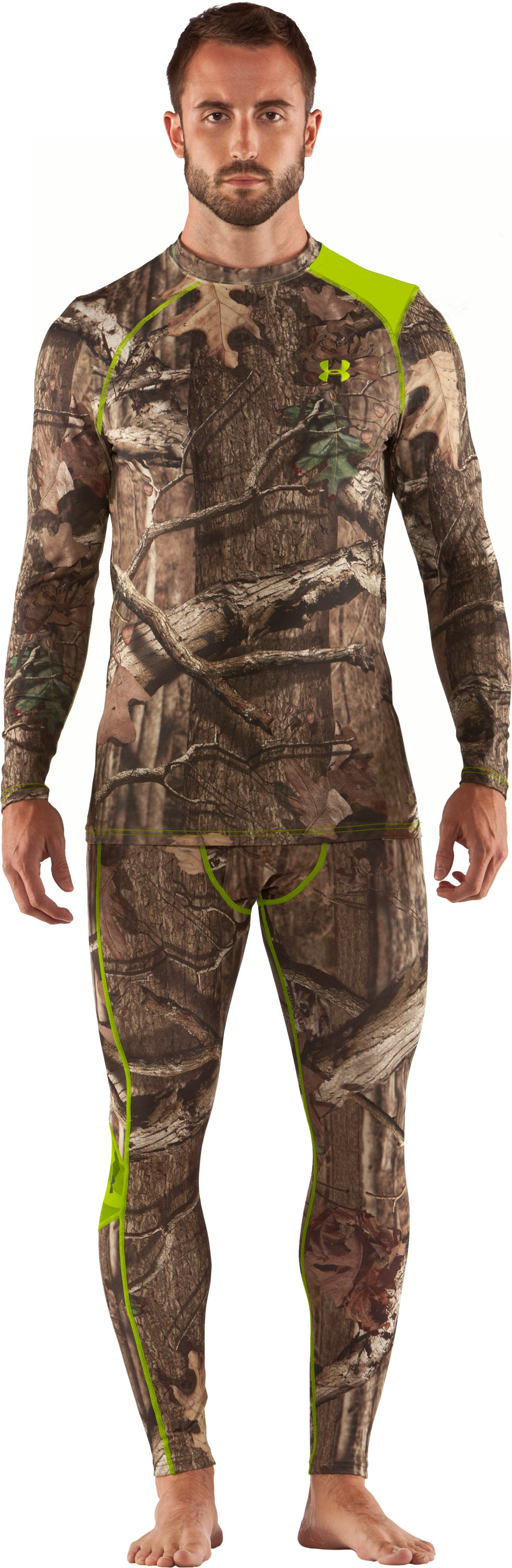 Men's UA Scent Control HeatGear® Long Sleeve, Mossy Oak Break-Up Infinity, Front