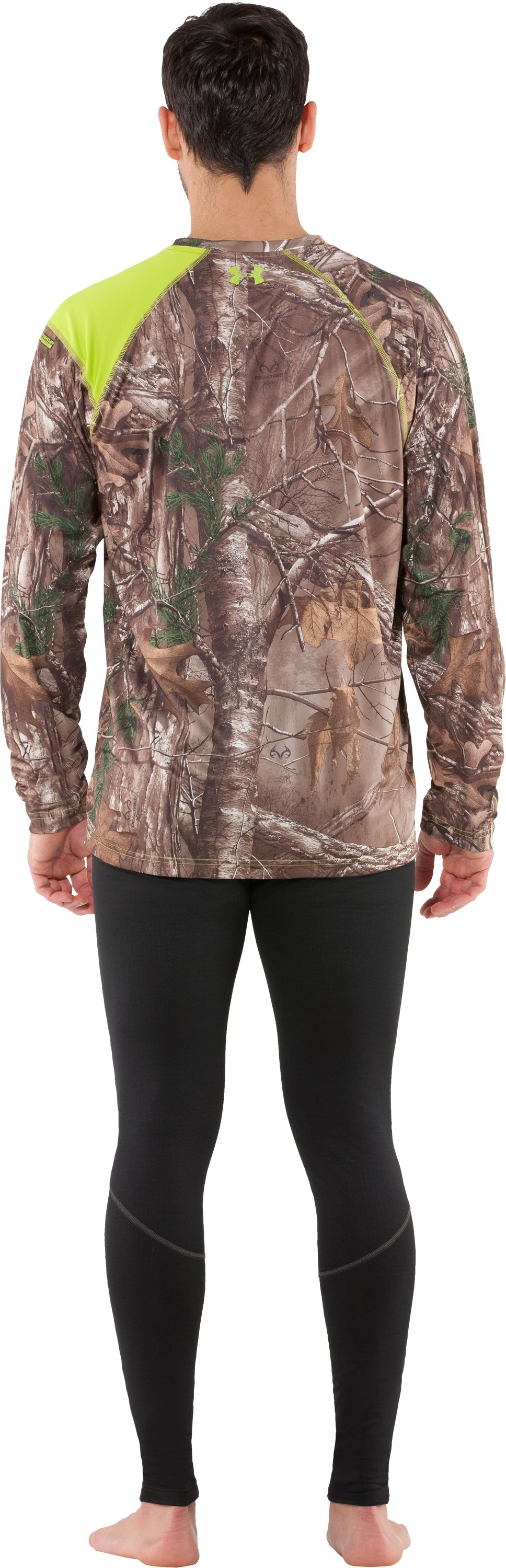 Men's HeatGear® Evo Scent Control Long Sleeve, REALTREE AP-XTRA, Back