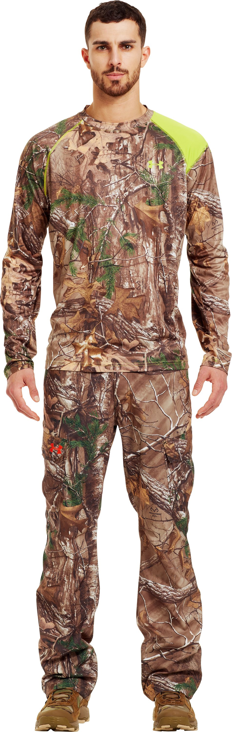 Men's HeatGear® Evo Scent Control Long Sleeve, REALTREE AP-XTRA, zoomed image