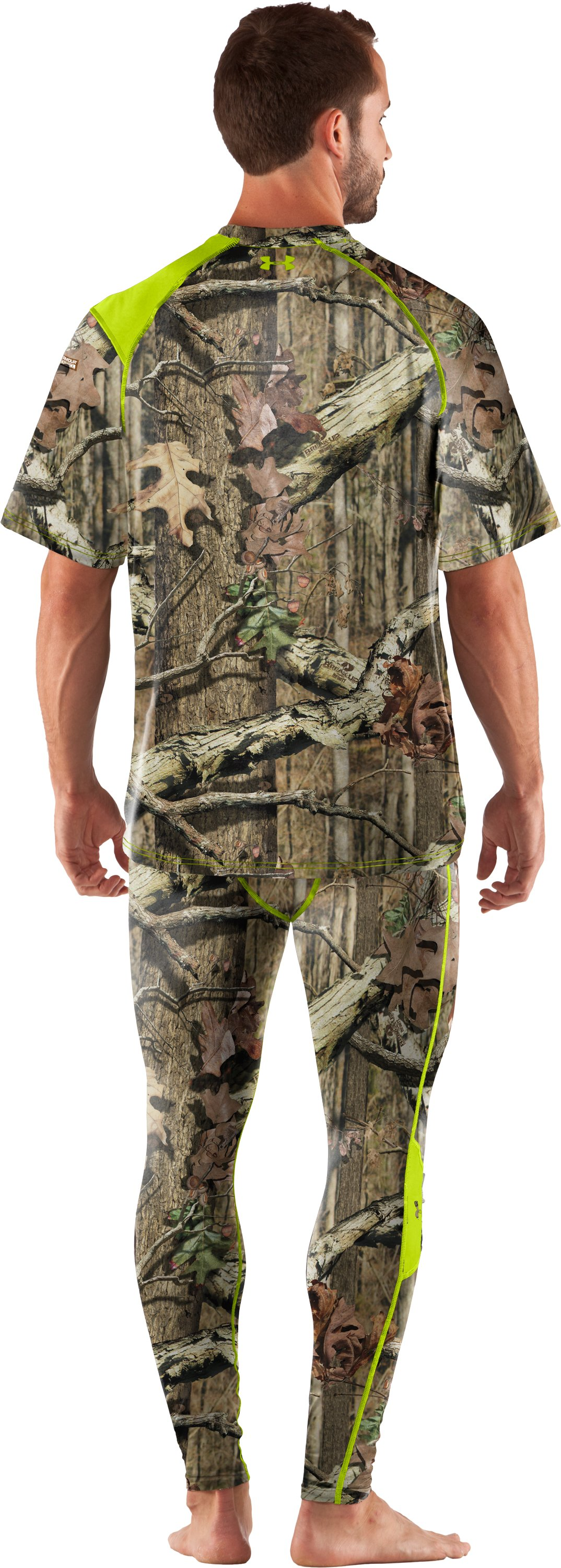 Men's UA Scent Control HeatGear® Short Sleeve, Mossy Oak Break-Up Infinity, Back