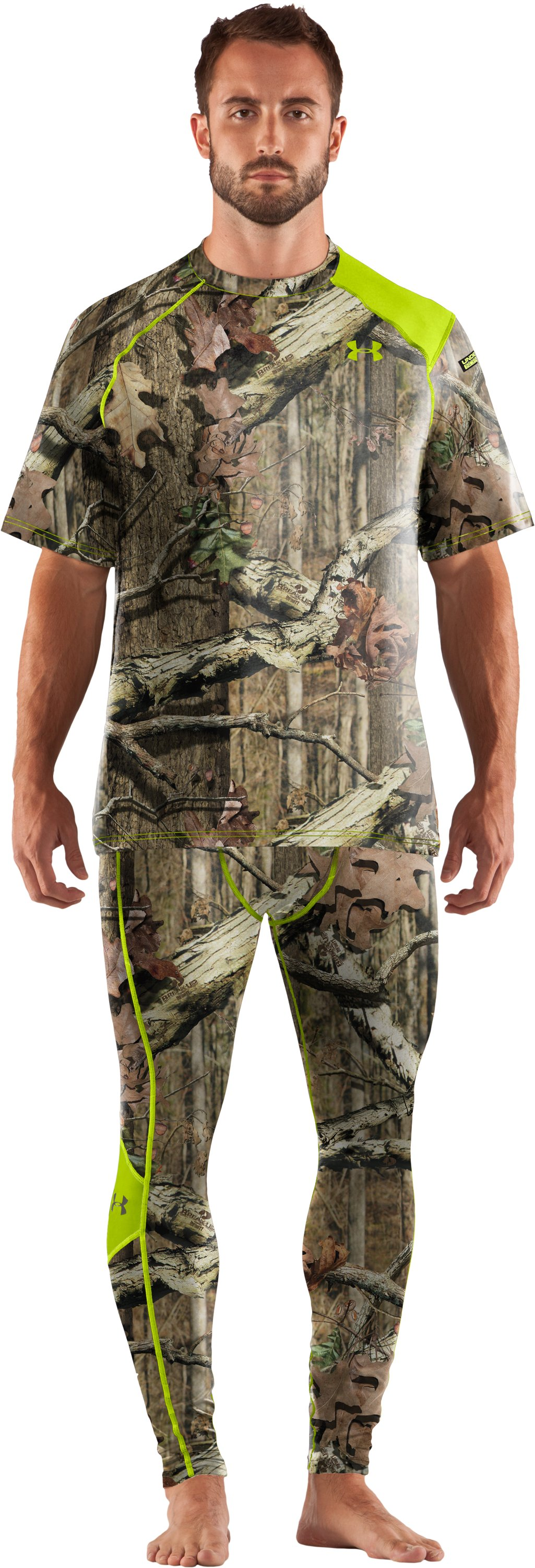 Men's UA Scent Control HeatGear® Short Sleeve, Mossy Oak Break-Up Infinity, Front