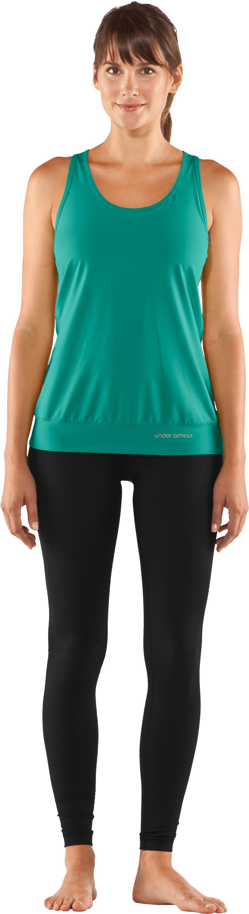 Women's UA Charm Banded Tank, Jade River