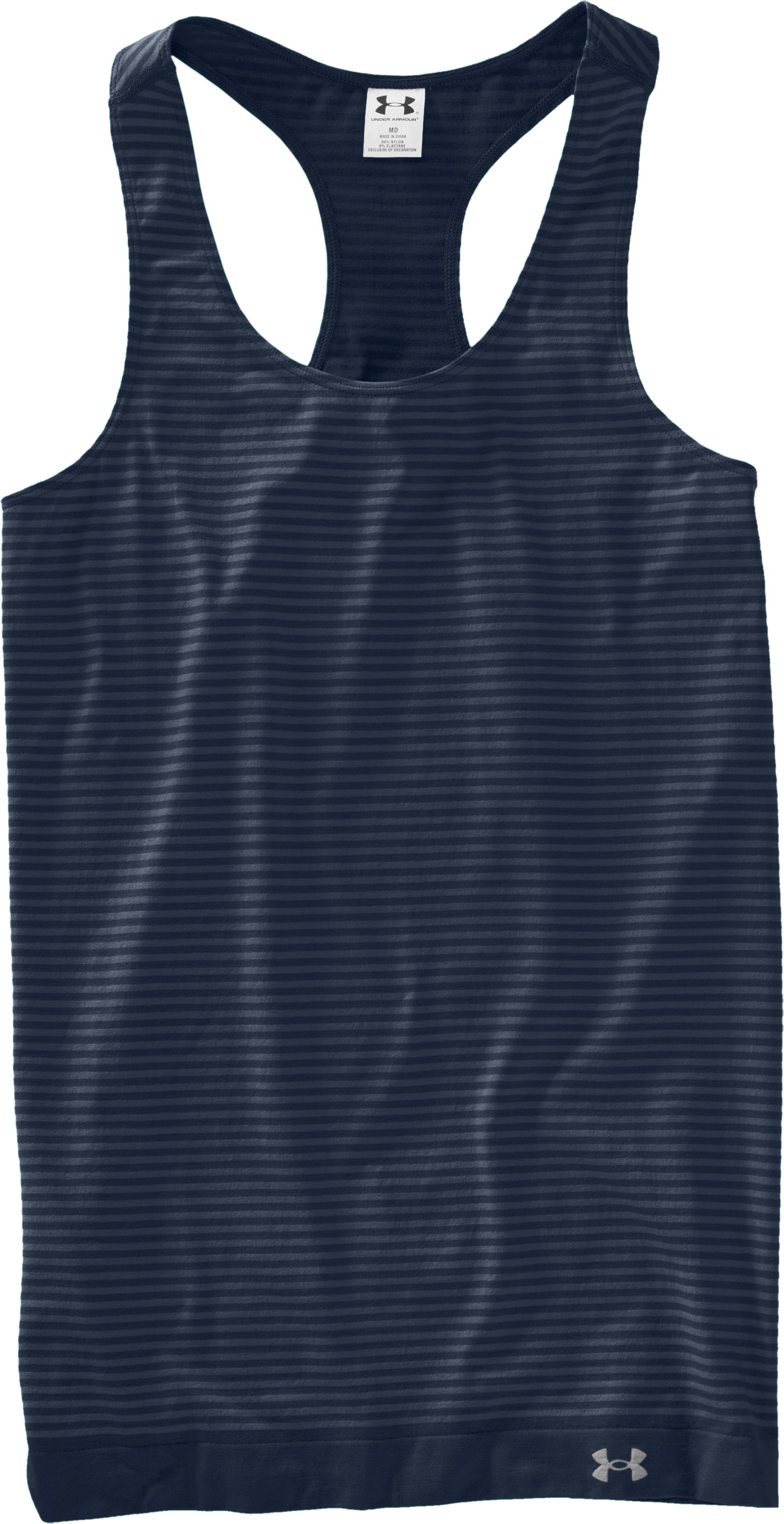 Women's UA Charm Seamless Tank, Wire, Laydown