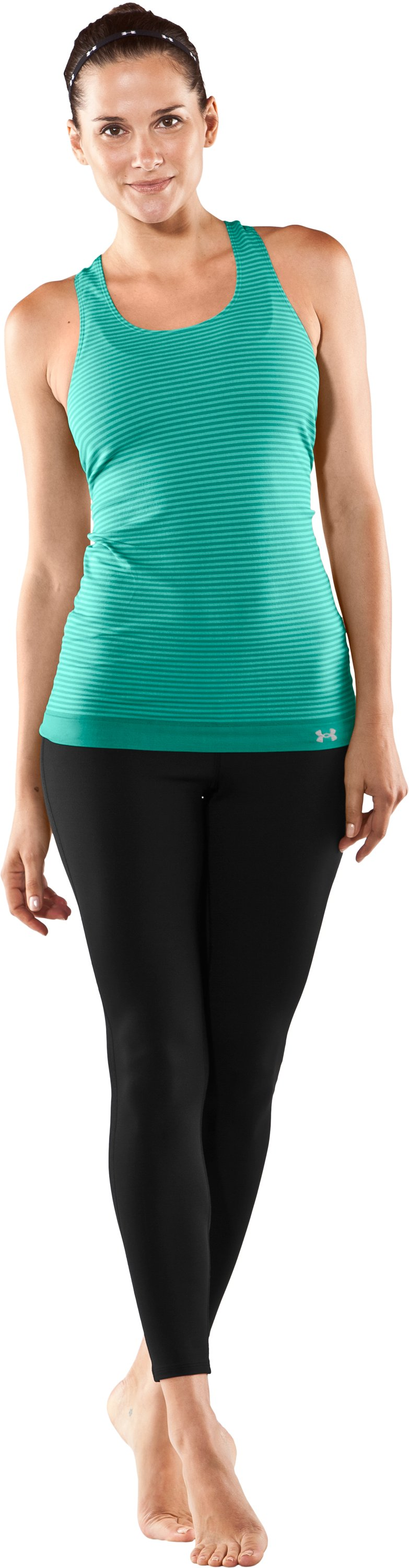 Women's UA Charm Seamless Tank, Jade River, zoomed image