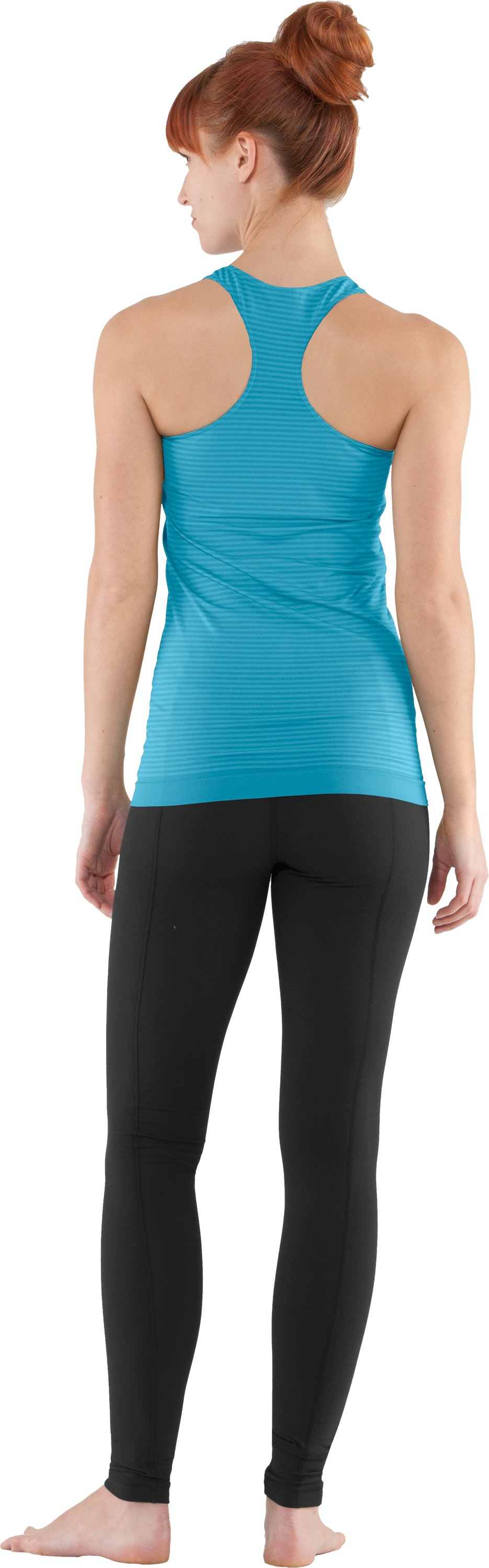 Women's UA Charm Seamless Tank, Break, Back