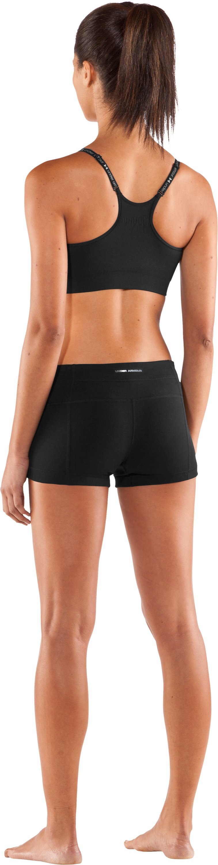 "Women's UA Perfect 3"" Shorty, Black , Back"