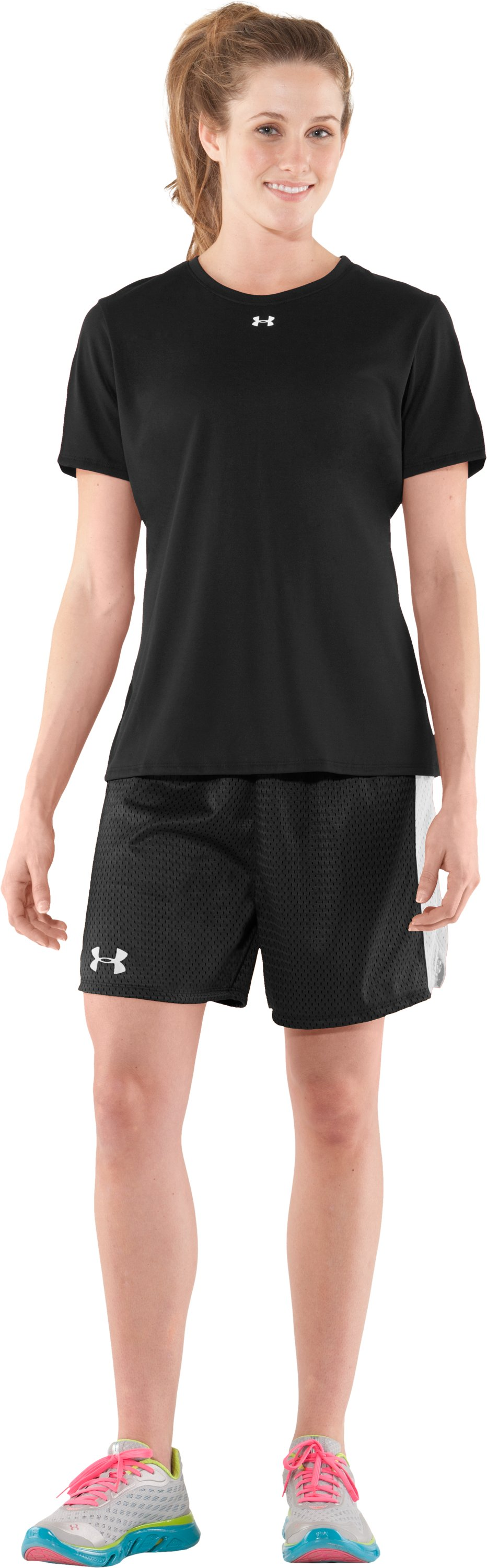 "Women's UA Trophy 5"" Short, Black , Front"