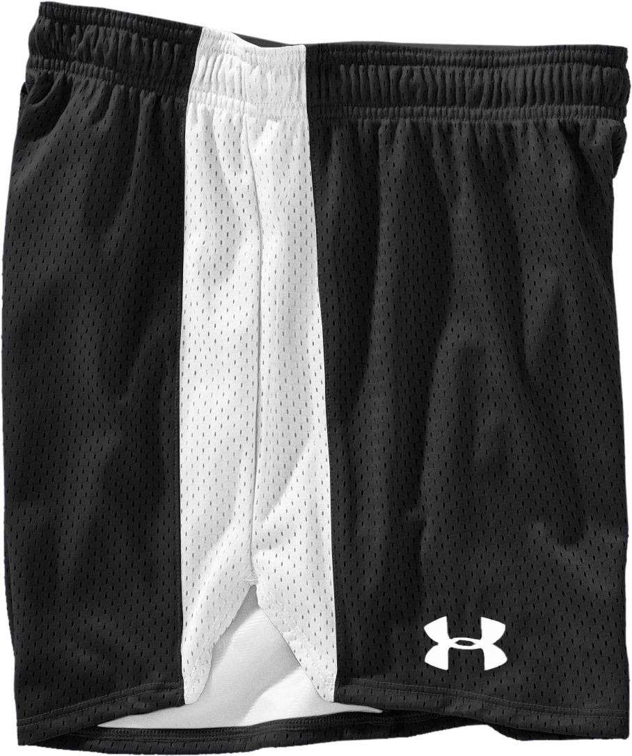 "Women's UA Trophy 5"" Short, Black , Laydown"