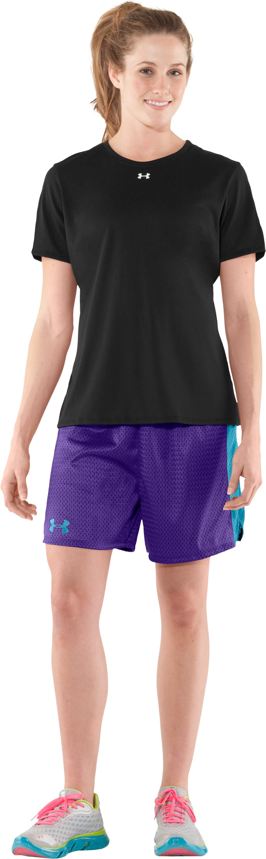 "Women's UA Trophy 5"" Short, Pluto, Front"