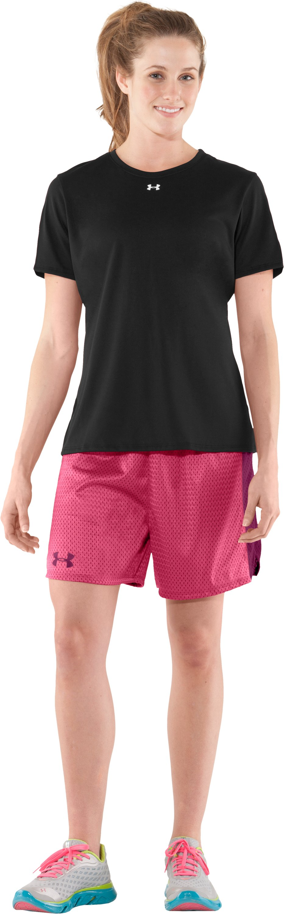 "Women's UA Trophy 5"" Short, Ultra, Front"
