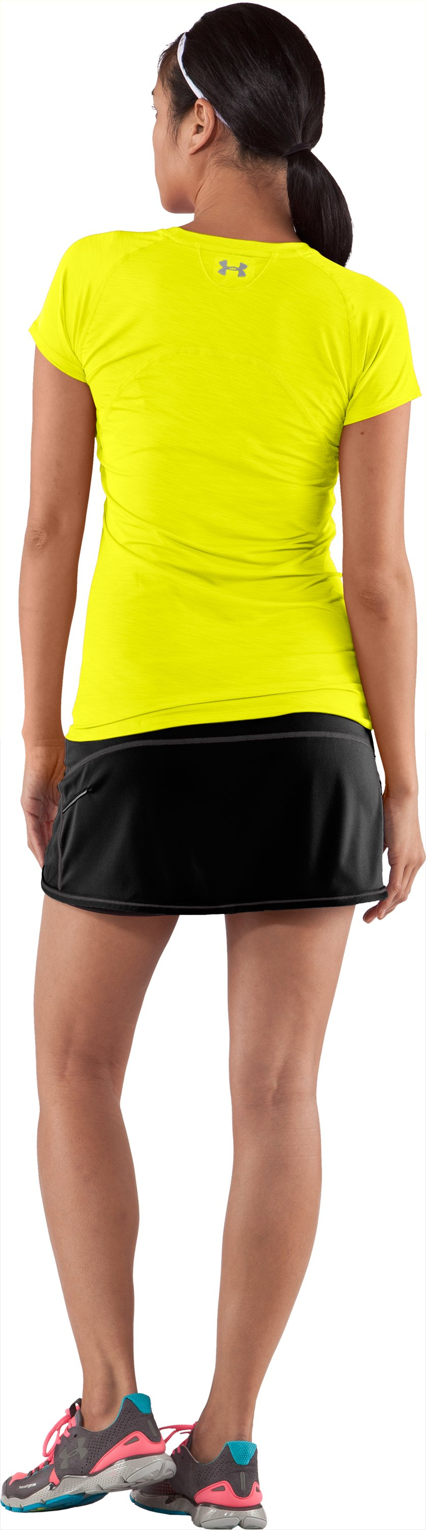 Women's UA Escape Knit Skort II, Black , Back