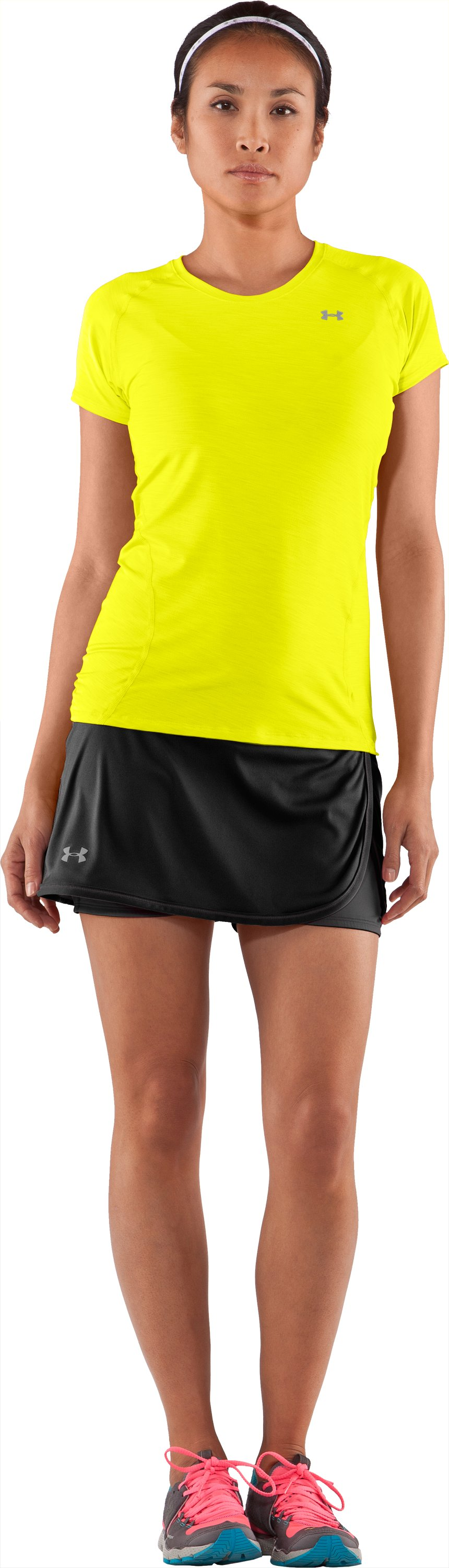 Women's UA Escape Knit Skort II, Black , Front