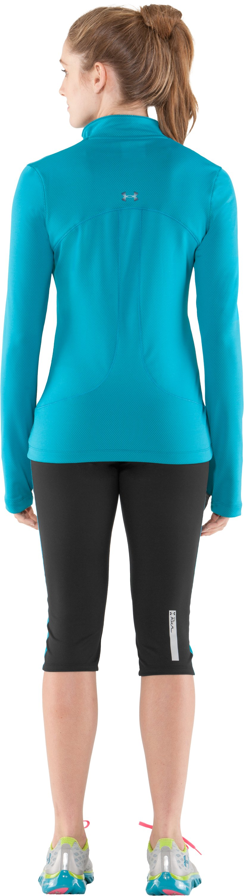 Women's UA Escape Fitted Capri, Black , Back