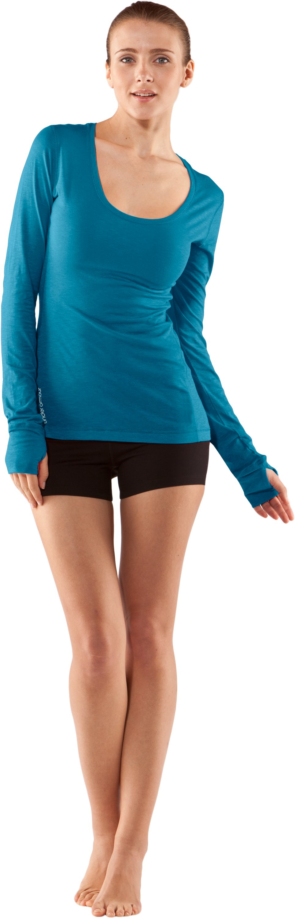 Women's UA Charm Long Sleeve Shirt, Break, Front