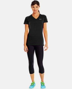 New to Outlet Women's UA Tech™ Short Sleeve V-Neck  4 Colors $14.99 to $18.99