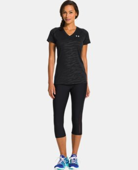 Women's UA Tech™ Short Sleeve V-Neck