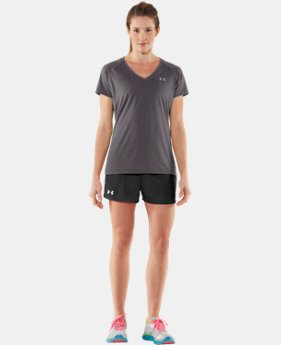 New to Outlet Women's UA Tech™ Short Sleeve V-Neck  2 Colors $14.99