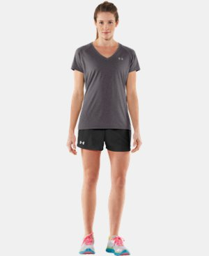 New to Outlet Women's UA Tech™ Short Sleeve V-Neck  2 Colors $14.99 to $18.99
