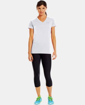 New to Outlet Women's UA Tech™ Short Sleeve V-Neck  1 Color $14.99 to $18.99