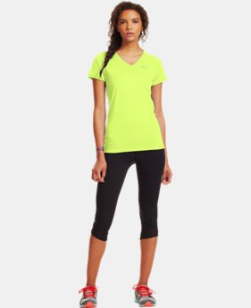 Women's UA Tech™ Short Sleeve V-Neck  1 Color $27.99