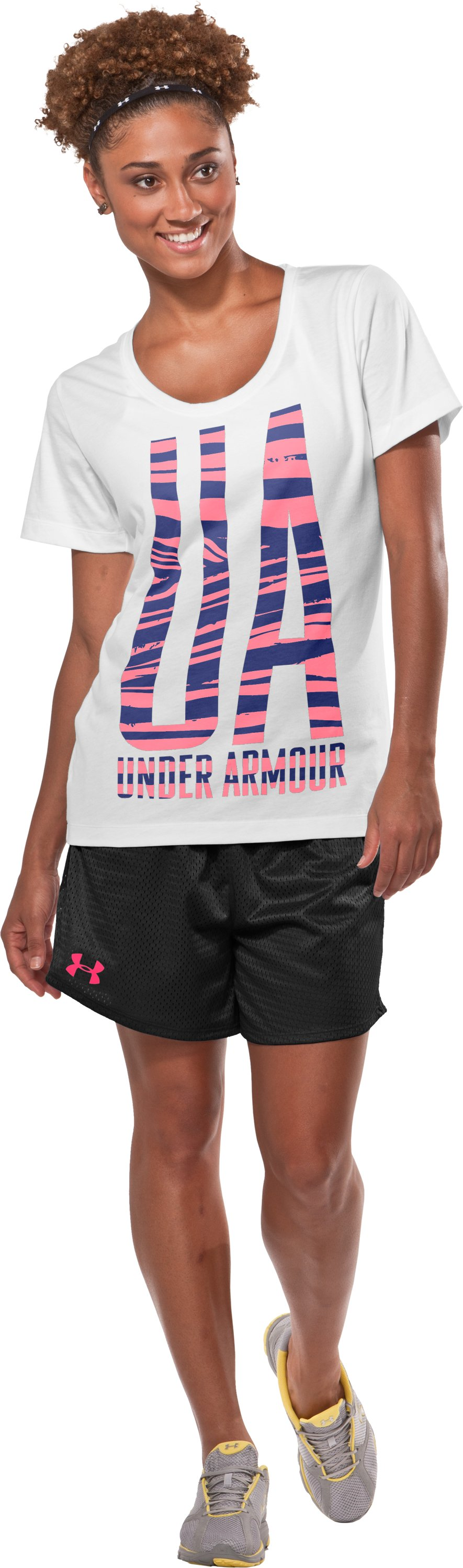 Women's Oversized UA Graphic T-Shirt, White, zoomed image