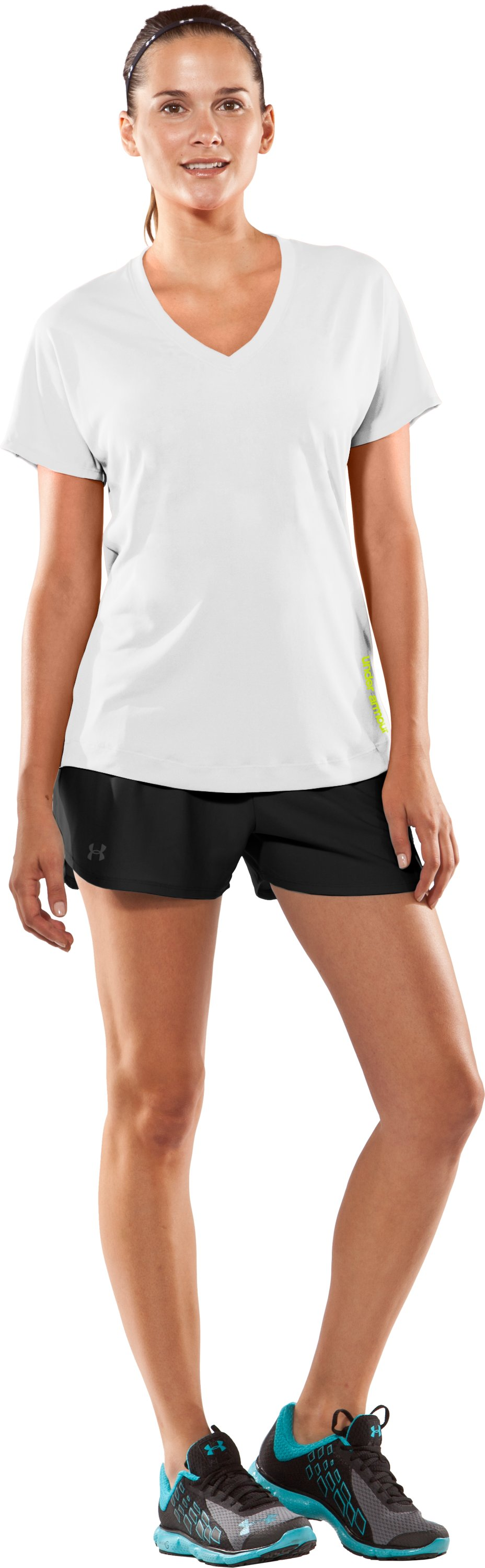 Women's UA Catalyst V-Neck T-Shirt, White, Front