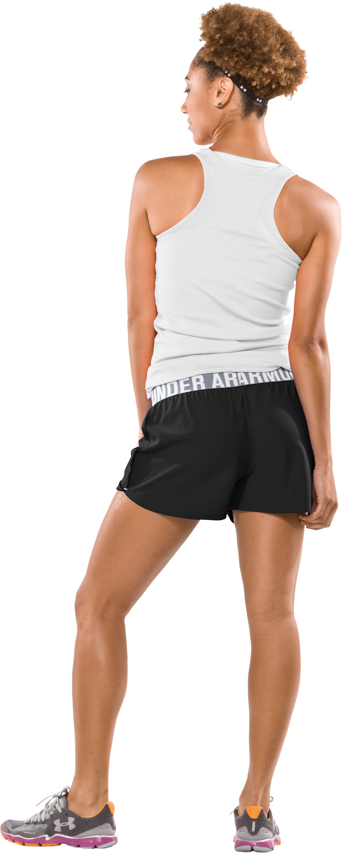 "Women's Play Up 3"" Short, Black , Back"