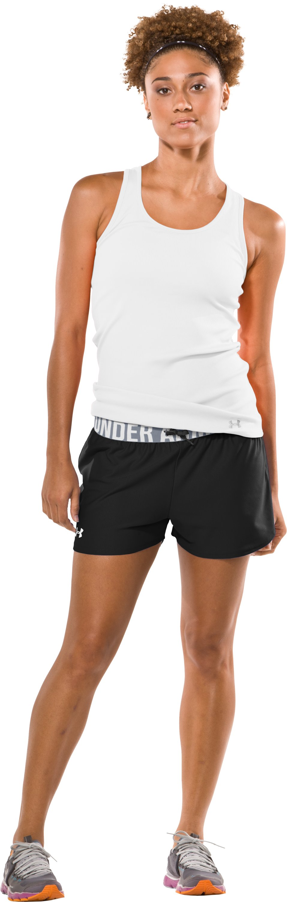 "Women's Play Up 3"" Short, Black , Front"