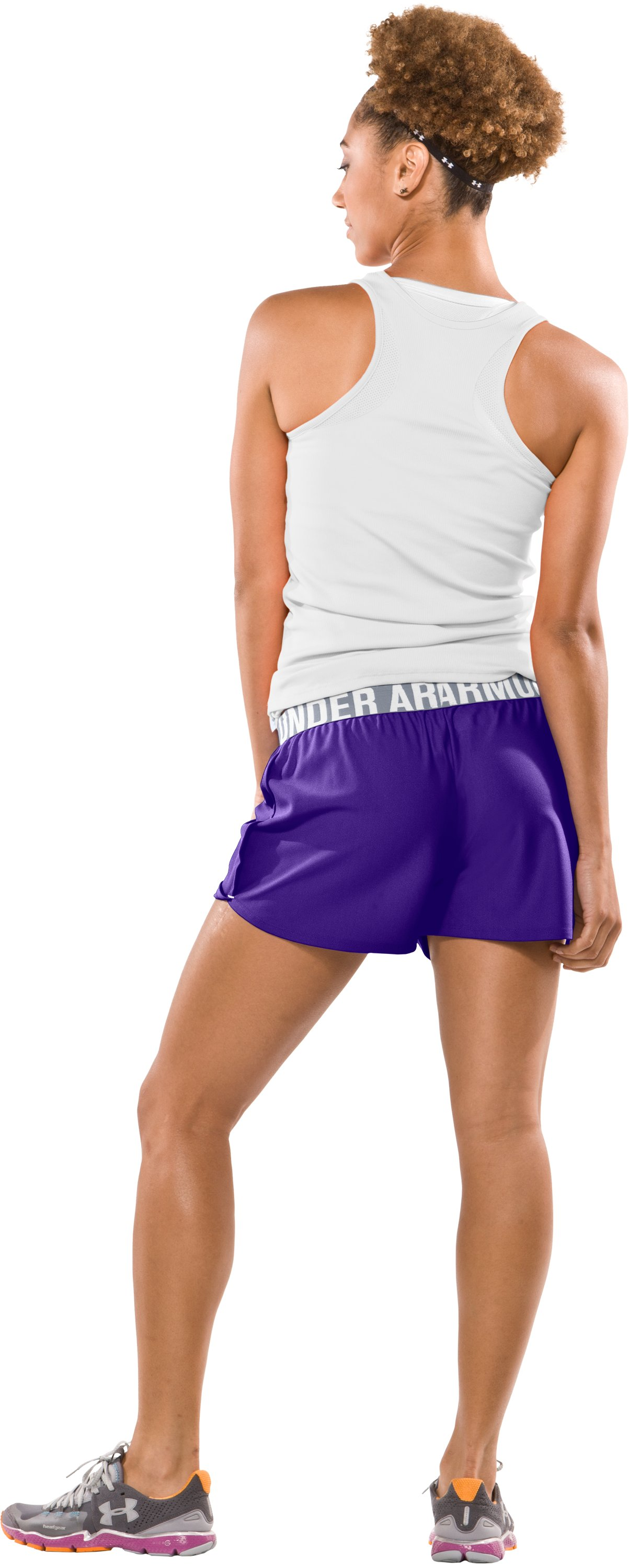 "Women's Play Up 3"" Short, Pluto, Back"