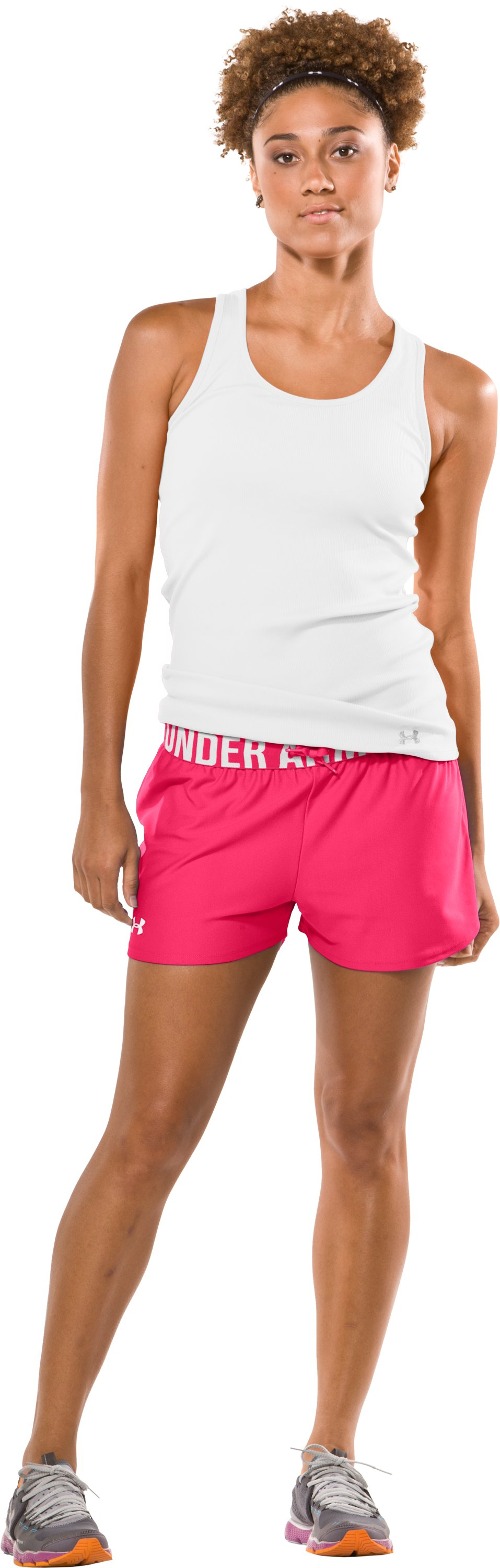 "Women's Play Up 3"" Short, Neo Pulse, Front"