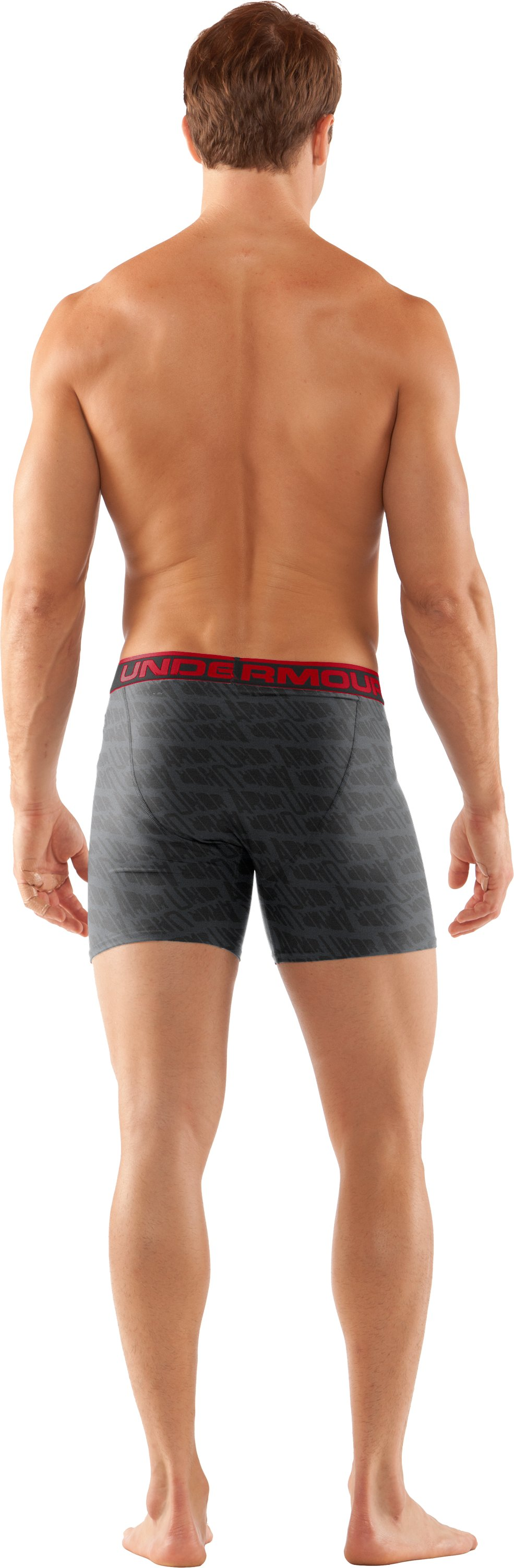 "Men's The Original Printed 6"" Boxerjock® Boxer Briefs, Graphite, Back"