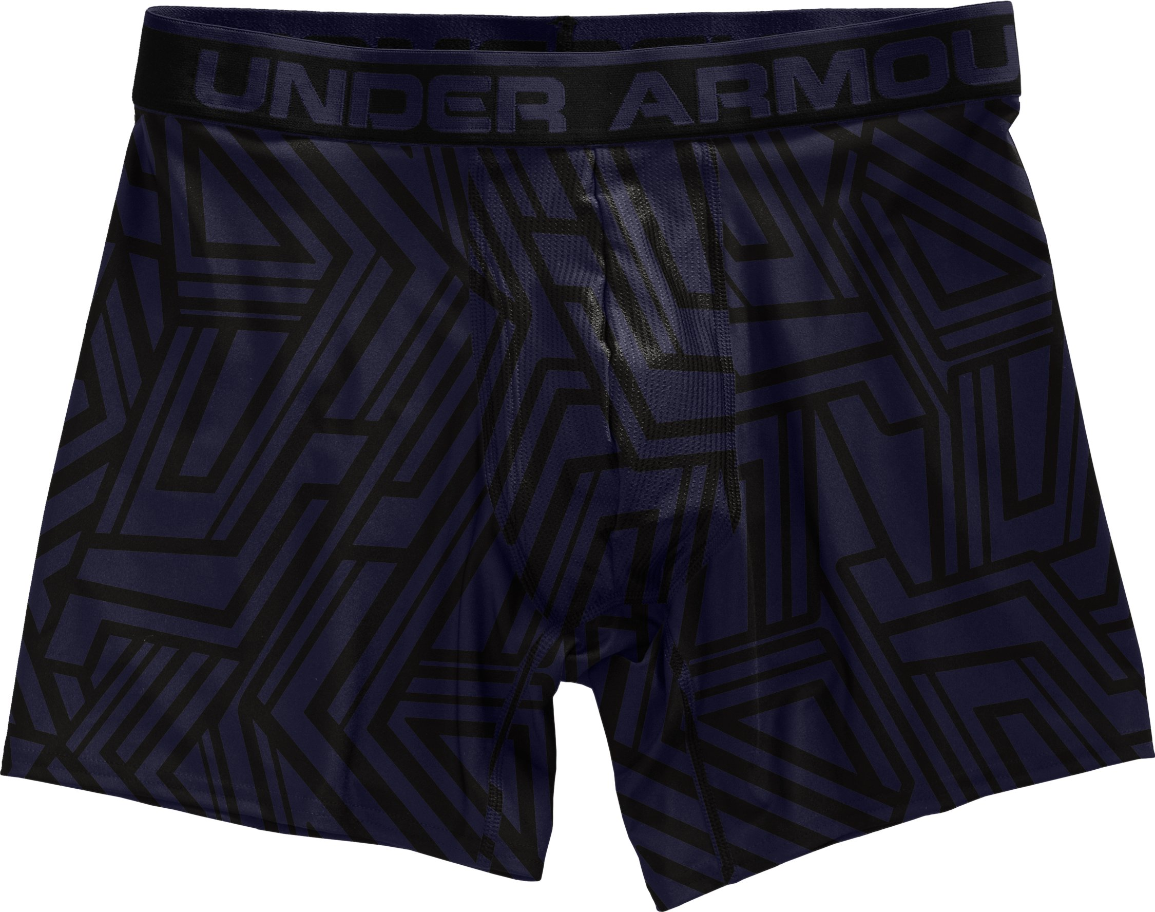 "Men's The Original Printed 6"" Boxerjock® Boxer Briefs, Midnight Navy, Laydown"