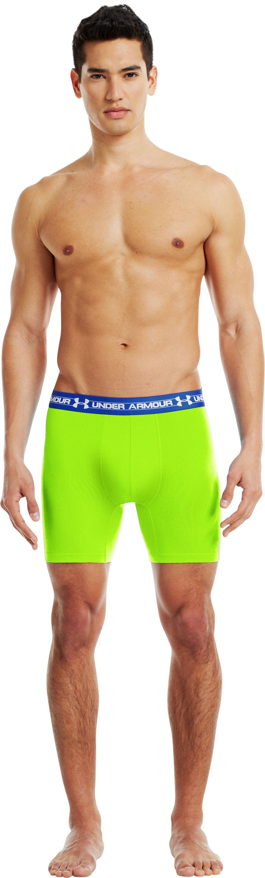 "Men's UA Mesh Series 6"" Boxerjock®, HYPER GREEN"