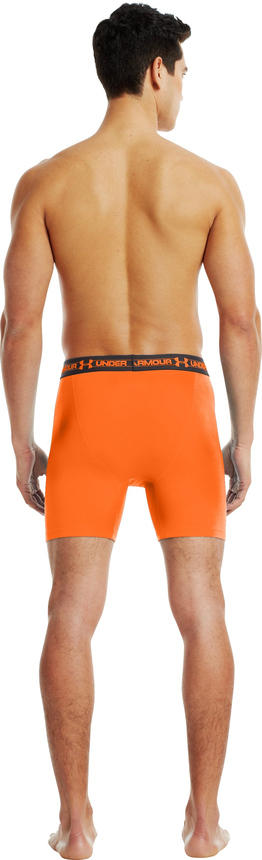 "Men's UA Mesh Series 6"" Boxerjock®, Blaze Orange, Back"
