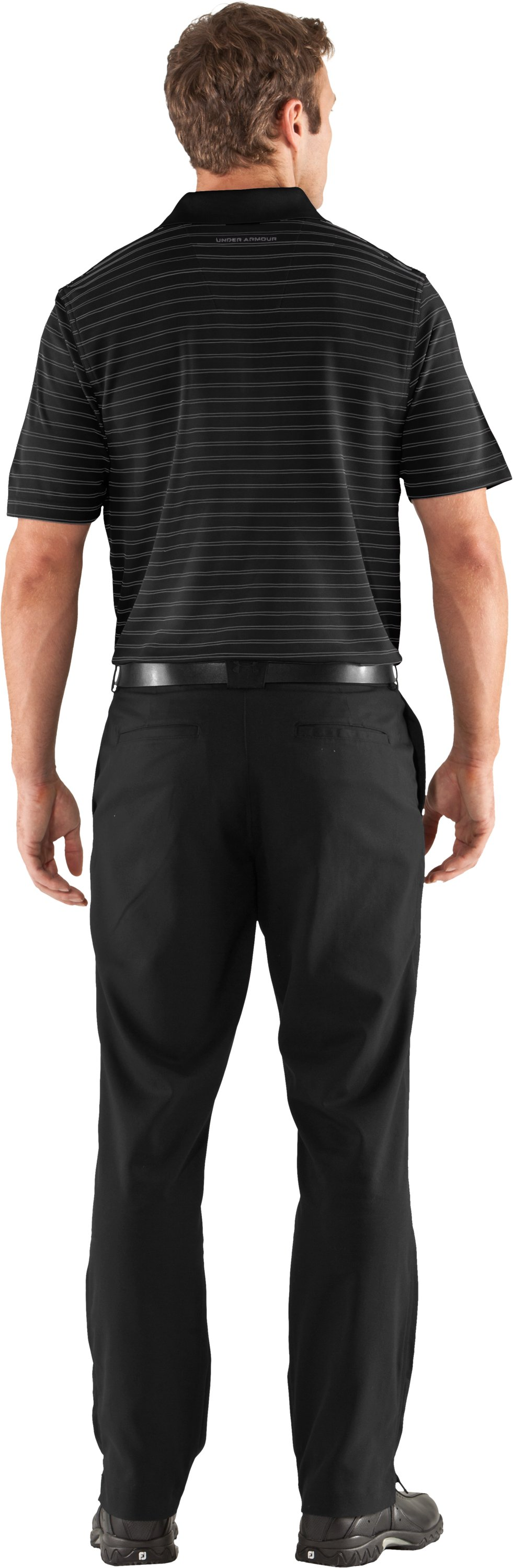 Men's UA Draw Stripe Pique Polo 2.0, Black , Back