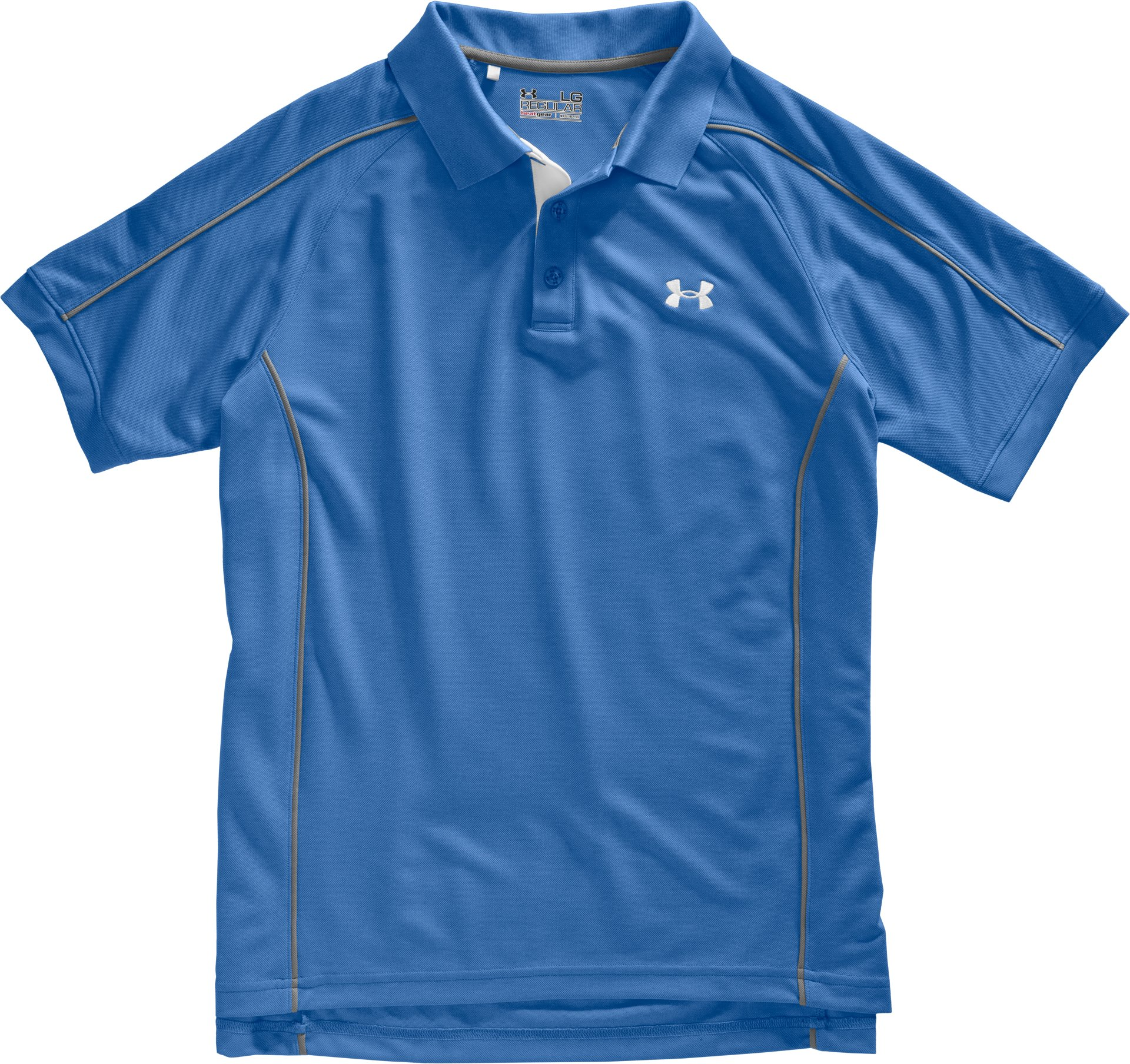 Men's UA Performance Pique Colorblock Polo, Moody, undefined