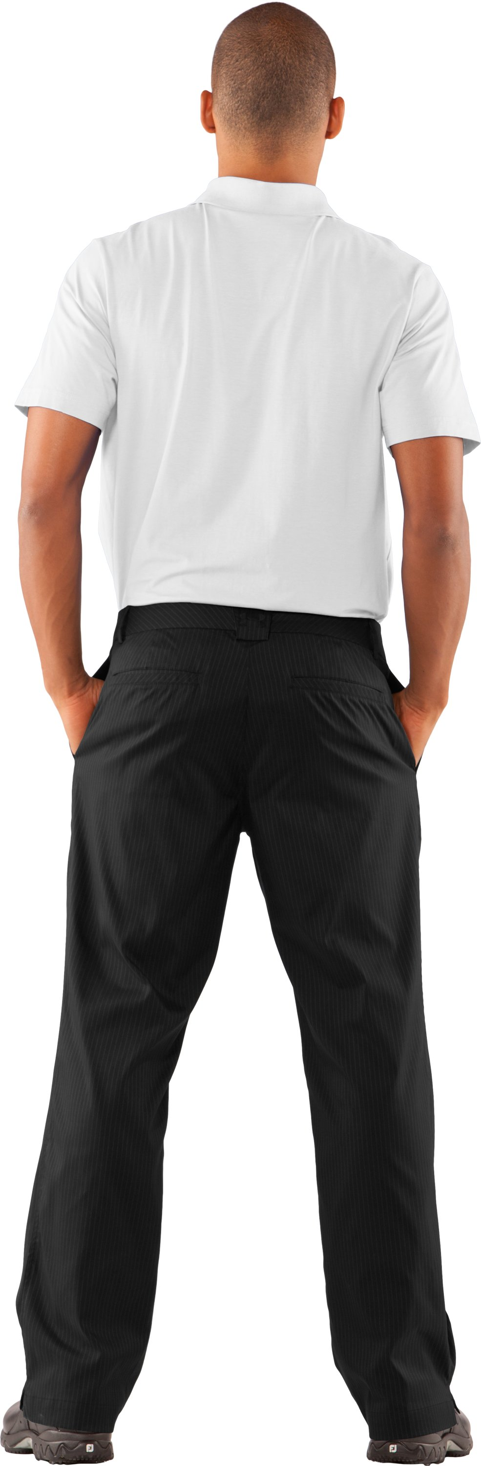 Men's UA Forged Stripe Pants 2.0, Black , Back