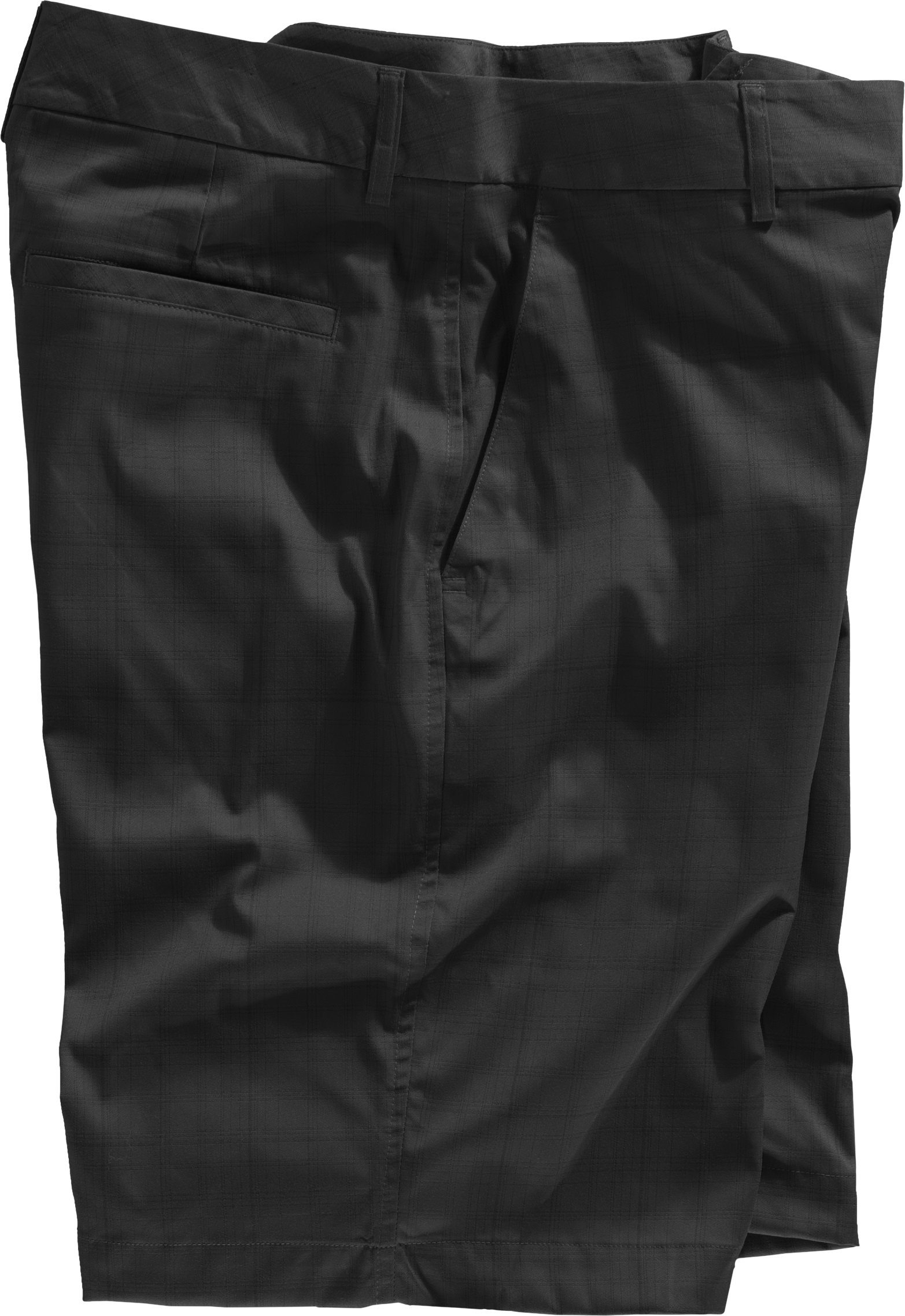 Men's UA Performance Plaid Shorts Uno, Black , Laydown