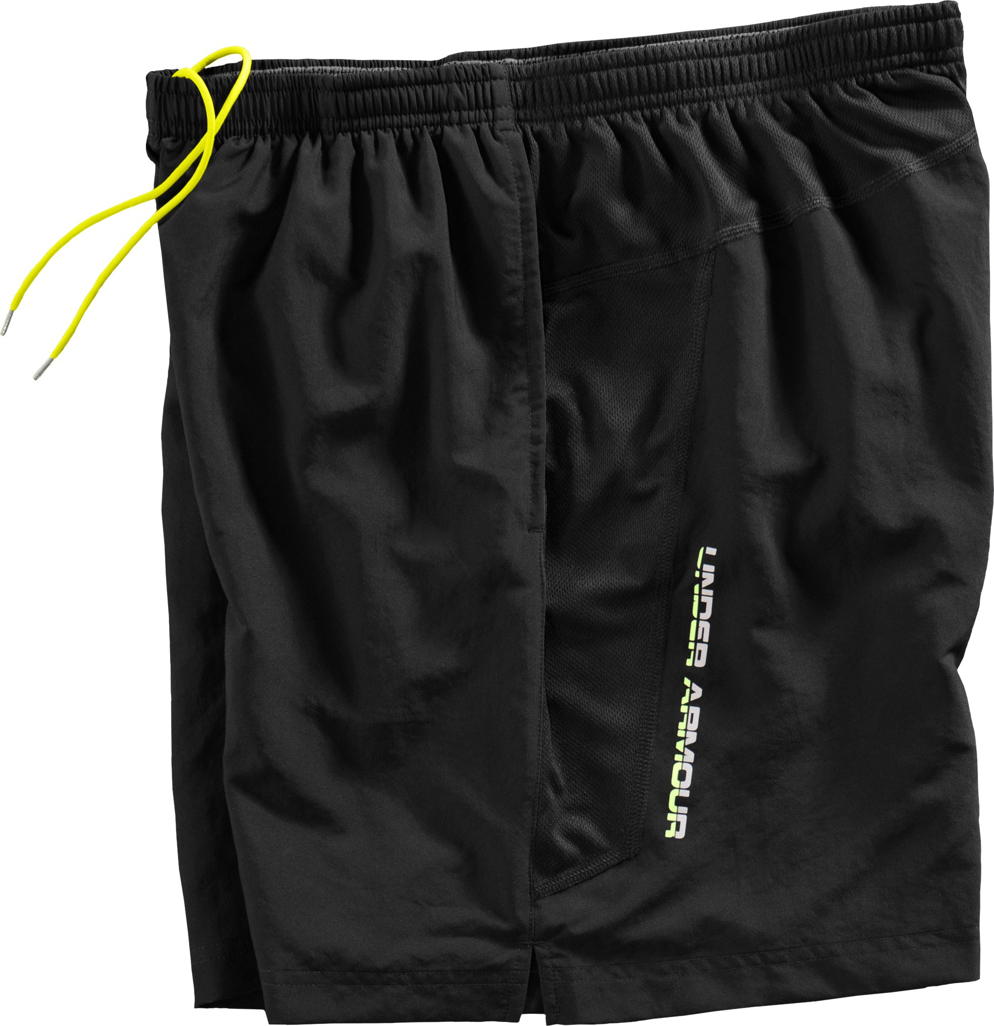 Men's UA Escape 7'' Woven Short, Black , Laydown