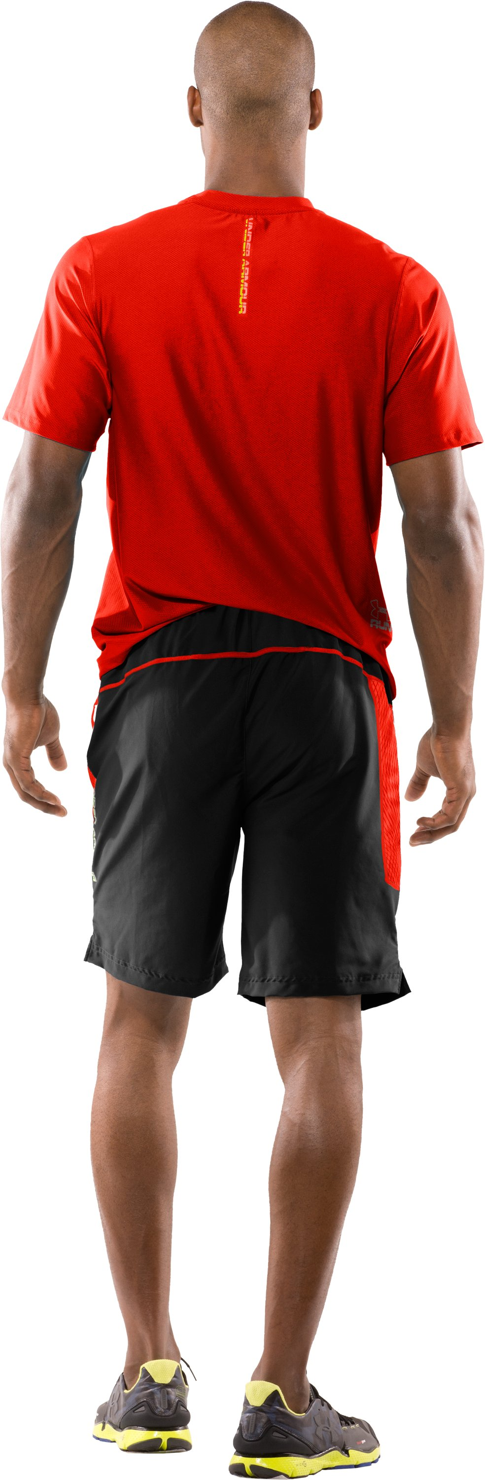 "Men's UA Escape 9"" Running Shorts, Black , Back"